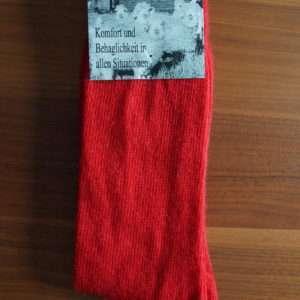 Rød standard mohair strømper
