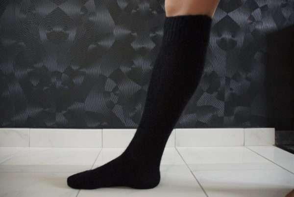 Mohair strømper som går til knæet