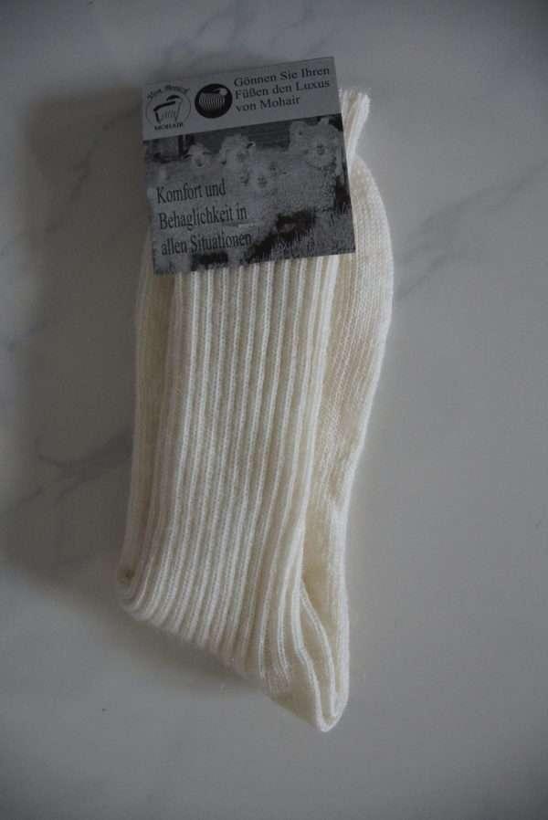 Hvid softtop strømper