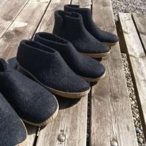 Filzschuhe, Hausschuhe, Pantoffel aus Wolle - Mohairfarm.dk