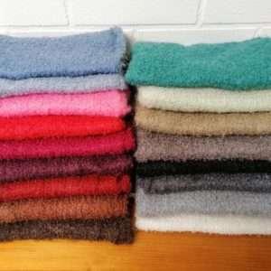 Tørklæder af mohair farver