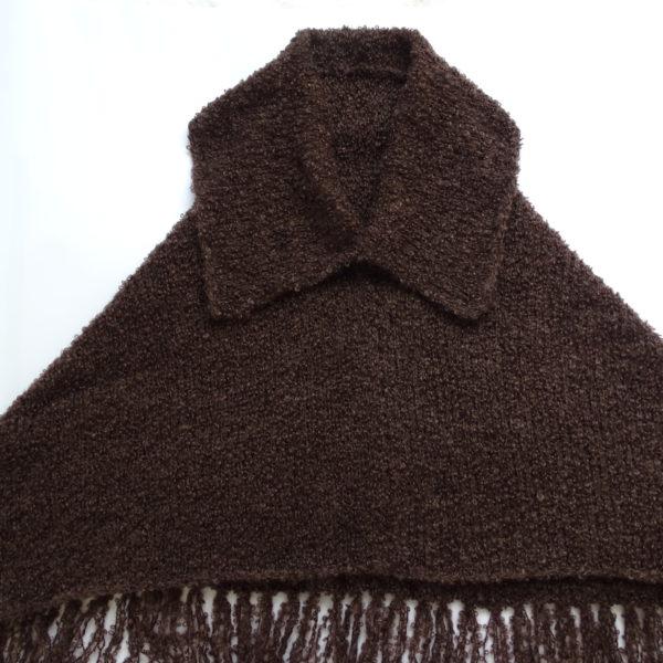 Mørkebrun poncho