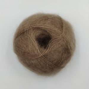 brushed lace mohairgarn hvid