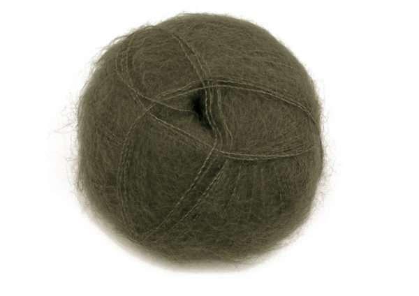 brushed lace mohairgarn khaki