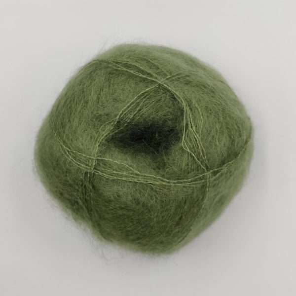 brushed lace mohairgarn oliven