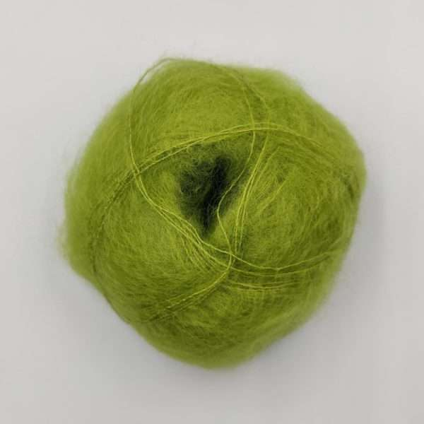brushed lace mohairgarn lime
