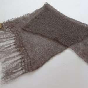 Schal,grå brun