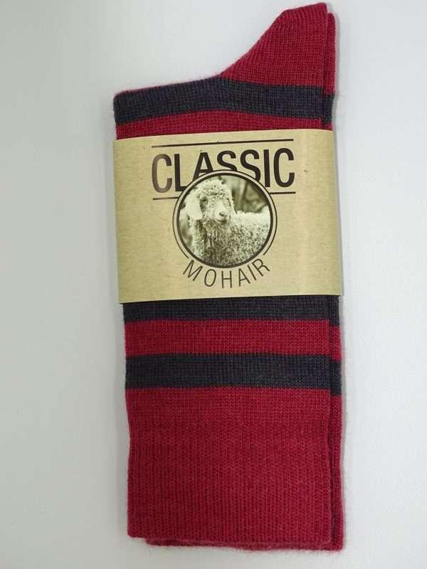 Classic stroemper striber roed sort front