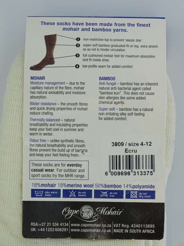 Medi socks stroemper hvid bag close